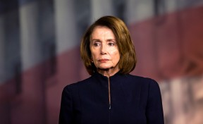 House Minority Leader Nancy Pelosi (D-Calif.) during a news conference on the day after a mass shooting at Marjory Stoneman Douglas High School.